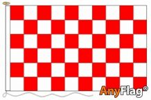 RED AND WHITE CHECK ANYFLAG RANGE - VARIOUS SIZES
